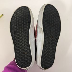 57a756e026 Vans Shoes - VANS OFF THE WALL SPARKLE GLITTER SHOES RED WHITE